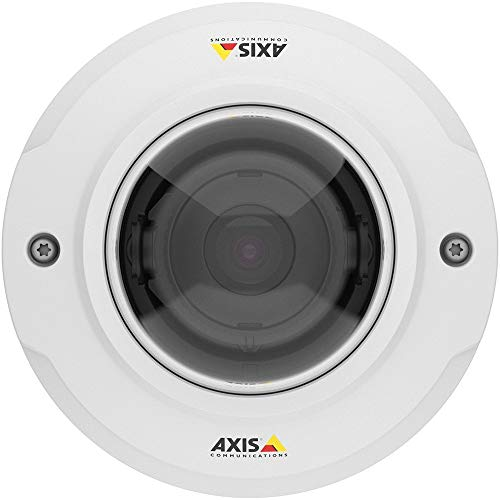 Axis Communications 0806-001 M3046-V - Network Surveillance Camera - Dustproof/Waterproof/Vandal-Proof - Color (Day & Night) - 2.4Mm Lens - 4 MP - 2688 X 1520, White
