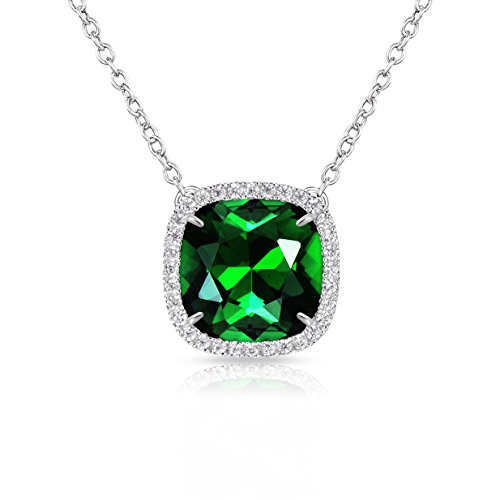 - Alantyer Birthstone Necklace Made with Square Swarovski Crystal for Women and Girls,Emerald (May Birthstone)