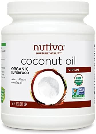 Nutiva Organic, Unrefined, Virgin Coconut Oil, 54 Fl Oz (Pack of 1)