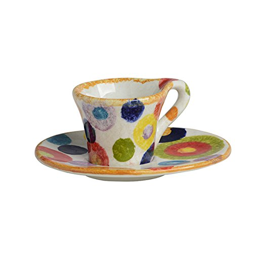 Italian Dinnerware - Espresso Cup & Saucer - Handmade in Italy from our POP Collection