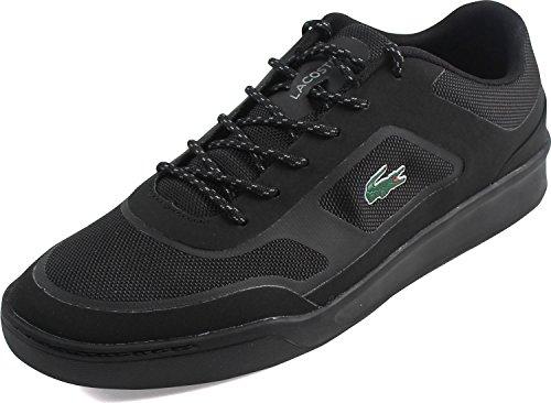 Lacoste Men's Explorateur Sport 117 2 Sneaker,Black Canvas/Synthetic,US 10.5 M