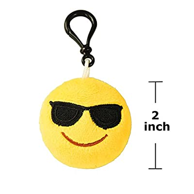 "Emoji Mini Keychains party favors Pillows from FINGON, Decorations, Kids Party Supplies, 2"" Set of 20 by FINGON"