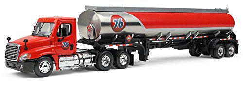 First Gear 1/64 scale Diecast Collectible '76' Freightliner Cascadia Day-Cab with 42' Fuel Tank Trailer (#60-0279)