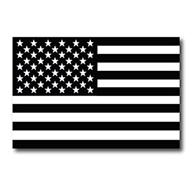 Black and White American Flag Magnet 4x6 Decal Heavy Duty for Car Truck SUV - in Support of Our Firefighters and Local Fire Departments: Automotive