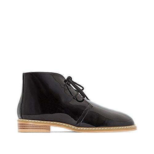 La Redoute Collections Frau Desert Boots in Lackoptik Gre 41 Schwarz