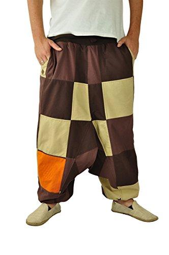virblatt winter harem pants reversible unisex onesize S-XL patchwork - Vielfältig