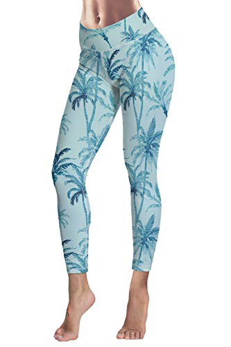 4c7ccae657 COCOLEGGINGS Womens Tropical Plants Print Workout Yoga Leggings Ankle  Length at Amazon Women's Clothing store: