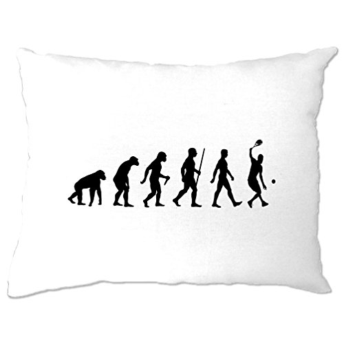 (Tim And Ted Sports Pillow Case Evolution of A Tennis Player White One Size)