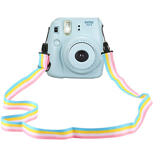 Katia Camera Neck Shoulder Strap Belt in rainbow for Nikon / Canon / Sony / Olympus / Pentax / Mini 9 / Mini 8 / Mini 7s / Mini 25 / Mini 50s / Mini 90 / DC / Fujifilm Polaroid Instax Camera (Film Camera Pentax K1000)
