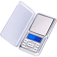 Pocket Digital Kitchen Scales for Food, Jewellery Gold Herbs - 0.01g to 200g - Auto Calibration - Tare Function