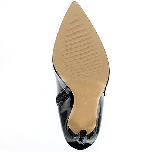 Evita Shoes MIA Damen Stiefelette Lack Schwarz
