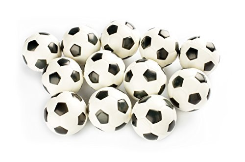 Charmed Stress Balls Squeeze Foam for Anxiety Relief, Relaxation, Party Favor Toy, Gifts (12 Pack) (soccer) -