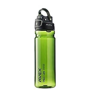 Avex FreeFlow Autoseal 25oz Plastic Water Bottle Combo Pack Olive Green & Orange