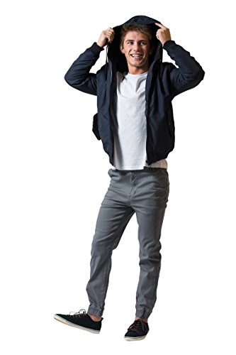16 REVOLUTION 88 Men's Cotton Jogger Pants, Comfortable Straight Fit (32, Charcoal) ()