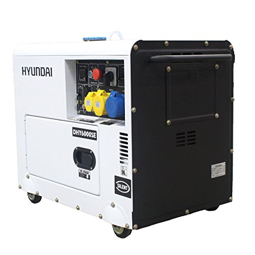 Hyundai DHY6000SE 5.2 kW Silenced Diesel Generator