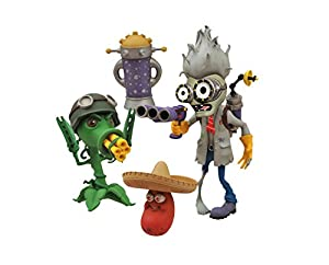 Diamond Select Toys Plants Vs Zombies Garden Warfare Scientist Zombie Vs Gatling
