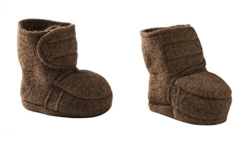 Disana 100% Organic Boiled Wool Baby Bootees Made in Germany (2 (8-12 Months), Hazelnut) by Disana