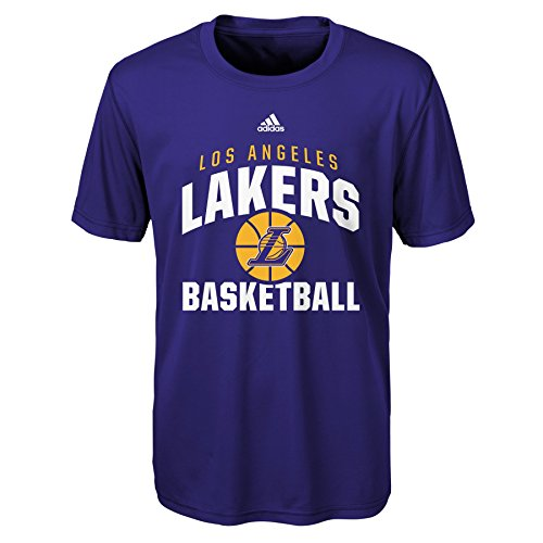 Outerstuff NBA Rep Big Performance Short Sleeve Tee-Purple-S(8), Los Angeles Lakers (Youth Time T-shirt Big)
