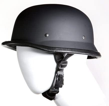 MOTORCYCLE GERMAN SHINY BLACK NOVELTY HELMET W//EAGLE /& USA FLAG NOT DOT APPROVED