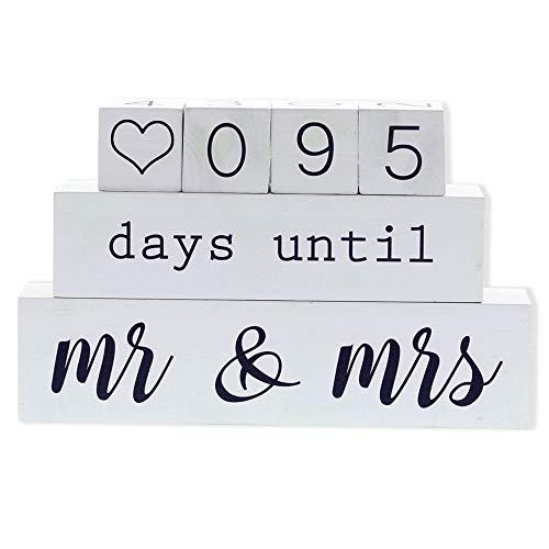 [해외]Barnyard Designs 6 Piece Wooden Block Wedding Day Countdown Calendar - Days Until Mr and Mrs Blocks Sign 12 x 7.5 x 2 / Barnyard Designs 6 Piece Wooden Block Wedding Day Countdown Calendar - Days Until Mr and Mrs Blocks Sign, 12 x ...