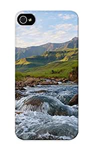 Guidepostee High Quality Shock Absorbing Case For Ipod Touch 5 Cover -rapids Nature Landscapes Rivers Stones Rock Mountains Sky Clouds