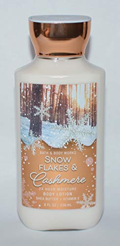 Bath & Body Works 24 Hr Moisture Body Lotion, Snow Flakes and Cashmere, 8 Ounce