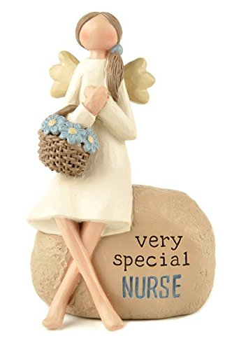 Blossom Bucket Special Nurse Angelwith Basket On Rock ()