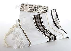 130/180cm Talit Prayer Talis FROM Israel Traditional Jewish Kosher Tallit Shawl