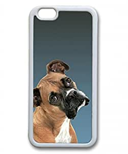 Iphone 6 Plus TPU Supple Shell Case Bulldog White Skin by Sallylotus by runtopwell