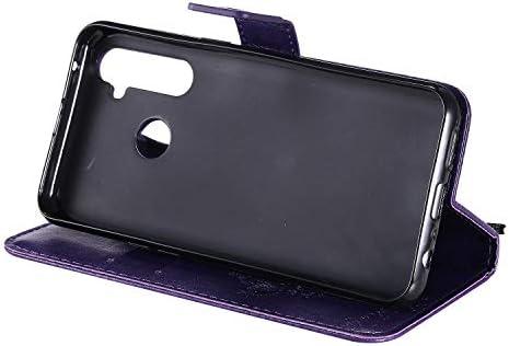 Docrax OPPO Realme Q/Realme 5 Pro ケース 手帳型 スタンド機能 財布型 カードポケット マグネット オッポ Realme Q 手帳型ケース レザーケース カバー - DOKTU081282 バラ色