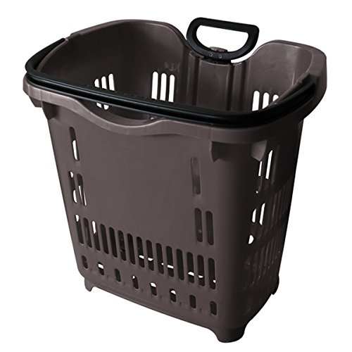 Rolling Shopping Baskets (Warm Gray) ()
