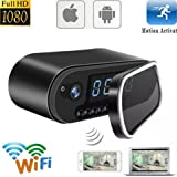 Hidden Camera HD Wireless Spy Network Digital Camera Smart Clock WiFi Fluent Video Recorder operate by battery or wall charger AMAZING security machine