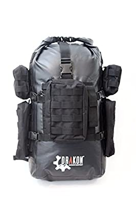 Survival backpack, Drakon, 40L, go bag, caving, dry bag, bug out, hiking, fishing, hunting, survival, dry-bag, go-bag, tactical, bug-out, floating, military, rucksack, waterproof, camping, kayaking