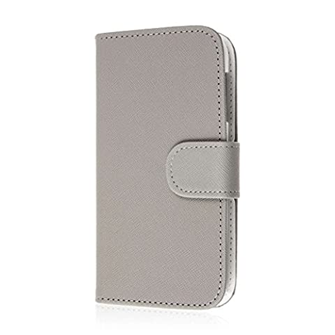 HTC Desire 510 Wallet Case, MPERO FLEX FLIP Wallet Case for HTC Desire 510 - Gray (Htc Desire 510 Flap Case)