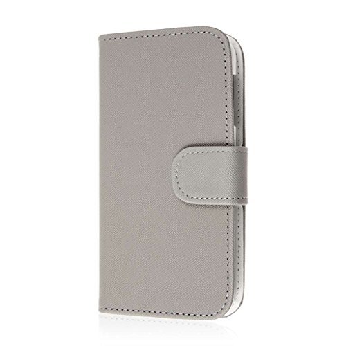 HTC Desire 510 Wallet Case, MPERO FLEX FLIP Wallet Case for HTC Desire 510 - Gray