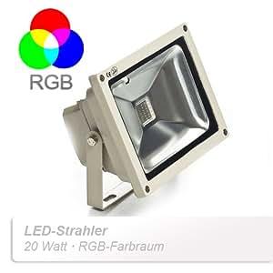 TaoTronics - Foco led (20 W, multicolor RGB, sumergible, duración de hasta 50.000 horas)