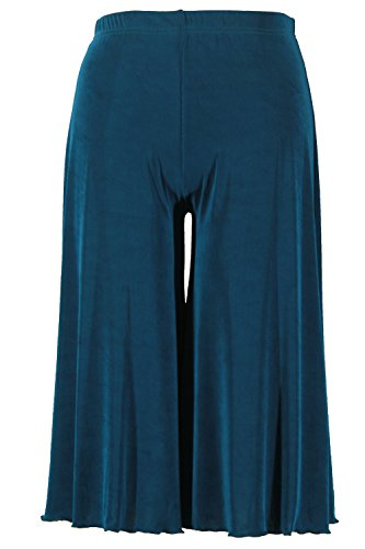 Jostar Women's Acetate Gaucho Pants X-Large Teal