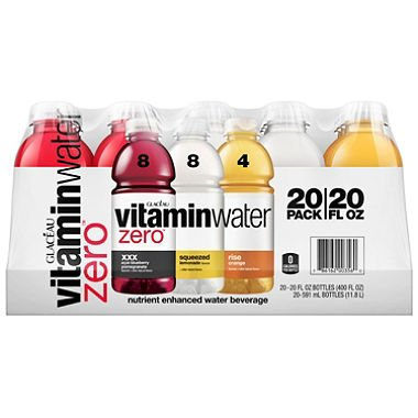 Glaceau VitaminWater Zero, Variety Pack (20 fl. oz., 20 pk.) (pack of 6) by vitaminwater