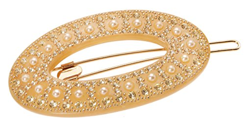FRANCE LUXE Marcella Large Tige Boule Barrette - Jonquil/...