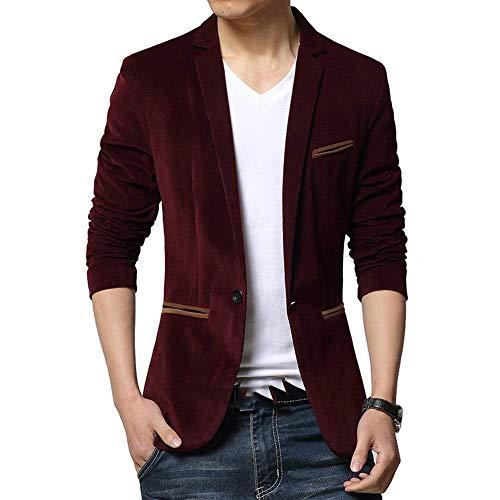Bouton Costume Hommes D'affaires Fit Veste Vintage Blazer Et Élégant Poche De Velours Winered Formel Style Casual Slim Un Vestes Loisir d78dpxwXqC