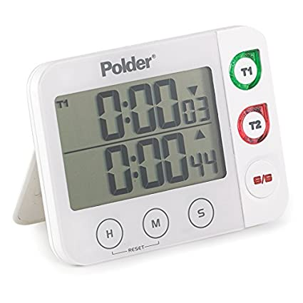 Merveilleux Polder TMR 993 90 Dual Digital Kitchen Timer With Magnet And Stand, White