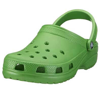 crocs Classic Clog, Lime, Women's 10 US M / Men's 8 US M