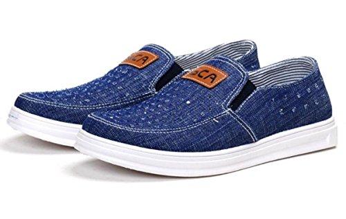 la red denim de EUR de Zapatillas hombres 2 transpirable y Zapatos de zapatos deporte de 41 cómoda Luz Casual los de ligeras conducción vqP4w7