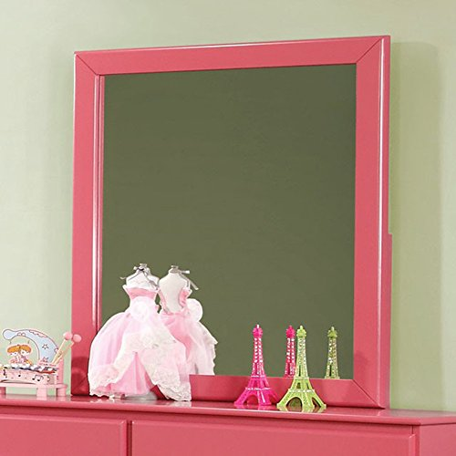 Prismo Transitional Style 3 Mm Pink Finish Mirror - French Wall Decor