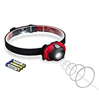 Firecore Smart Distance Induction Headlight for Outdoor Sports, 3 Battery Ope...