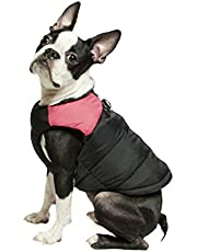 Gooby - Padded Vest, Dog Jacket Coat Sweater with Zipper Closure and Leash Ring, Pink, Medium