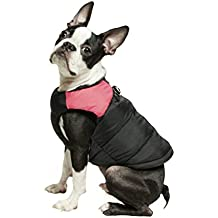 Gooby Padded Cold Weather Vest for Small Dogs with Safe Fur Guard Zipper Closure, Pink, Medium
