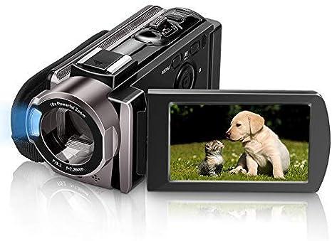 Videocámara MELCAM HD 1080P 24.0MP, 3.0 pulgadas LCD 270 grados ...