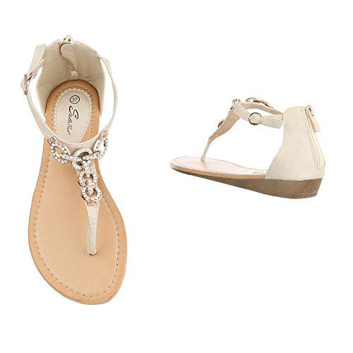 Ital-Design - Zapatos con tacón Mujer Beige N1160-6