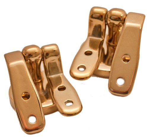 - Plumb-Pak PPS79 Wooden Toilet Seat Hinges - Brass